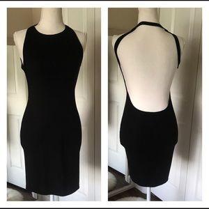 Lulus flaunt what you got backless black dress lbd
